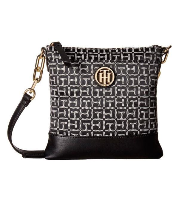 Женская сумочка Tommy Hilfiger Almira North 22х22 см - черно-белая