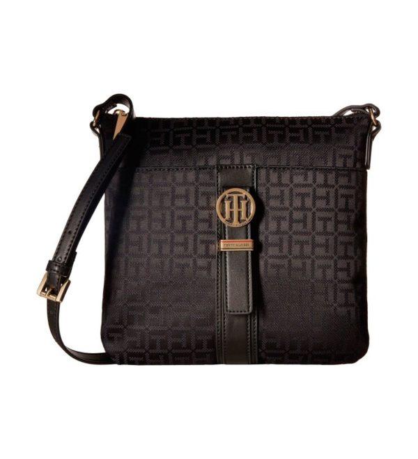 Женская сумочка Tommy Hilfiger Evanna Large 25х23 см - Черная