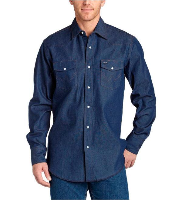 Джинсовая рубашка Wrangler - Rigid Indigo Denim