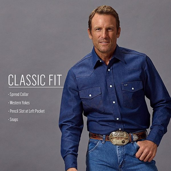 Wrangler Men's Cowboy Cut Work Shirt3