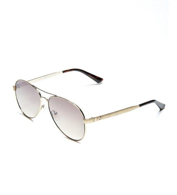 Женские очки от солнца Guess Aviator - золотистые