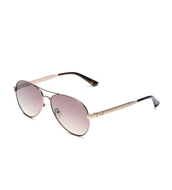 Женские очки от солнца Guess Aviator - бронзовые