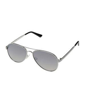 Женские очки от солнца Guess Aviator - серебристые