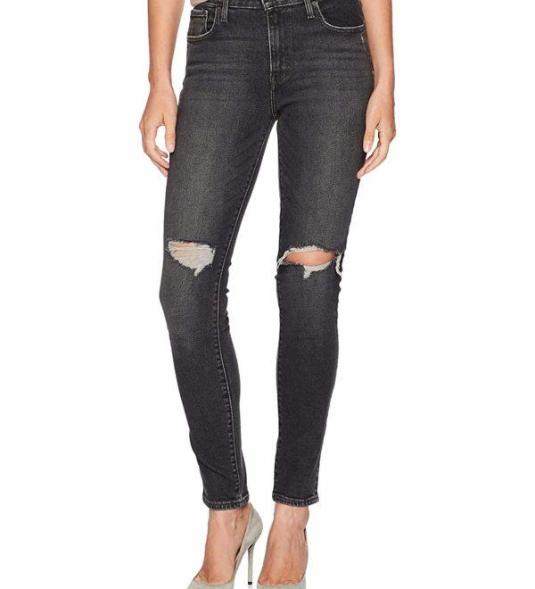 Рваные скинни джинсы Levis 711 - Bandit Black