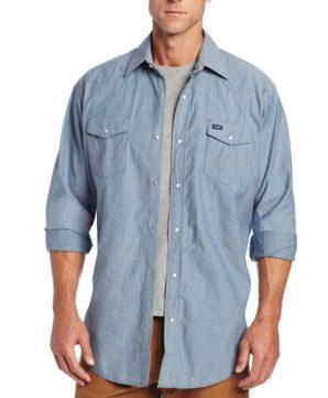 Джинсовая рубашка Wrangler - Chambray Blue