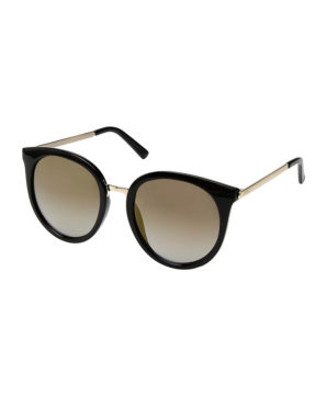 Женские очки от солнца Guess - Черные/зеркальные