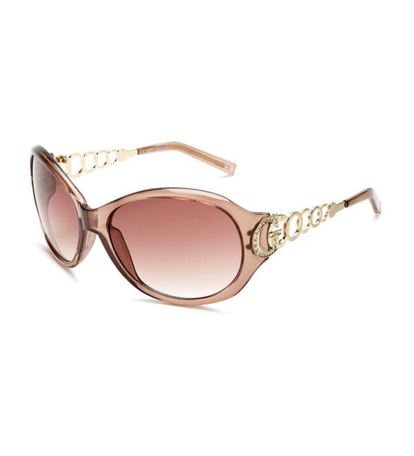 Женские очки от солнца Guess - Бежевые/градиент