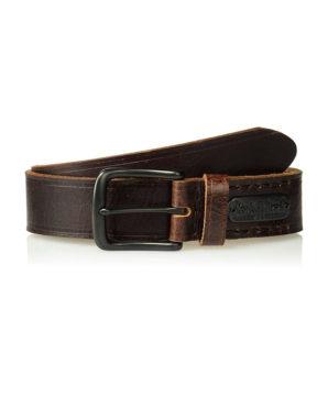 Кожаный ремень ручной работы от Levis - коричневый