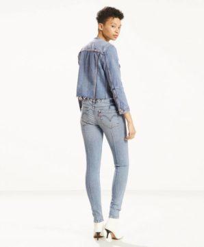Измененные джинсы Levis 711 - Blue Steam