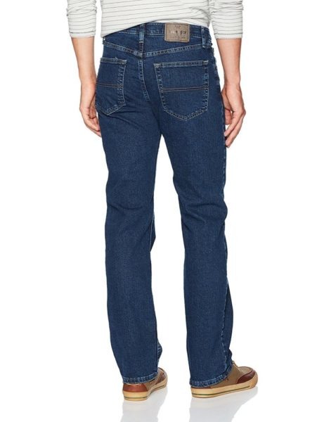 Wrangler Authentics Men's Comfort Flex Waist Jean - Dark Stonewash2