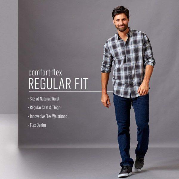 Wrangler Authentics Men's Comfort Flex Waist Jean - Dark Stonewash3