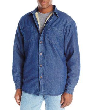 Джинсовая куртка-рубашка Wrangler на подкладке - Indigo