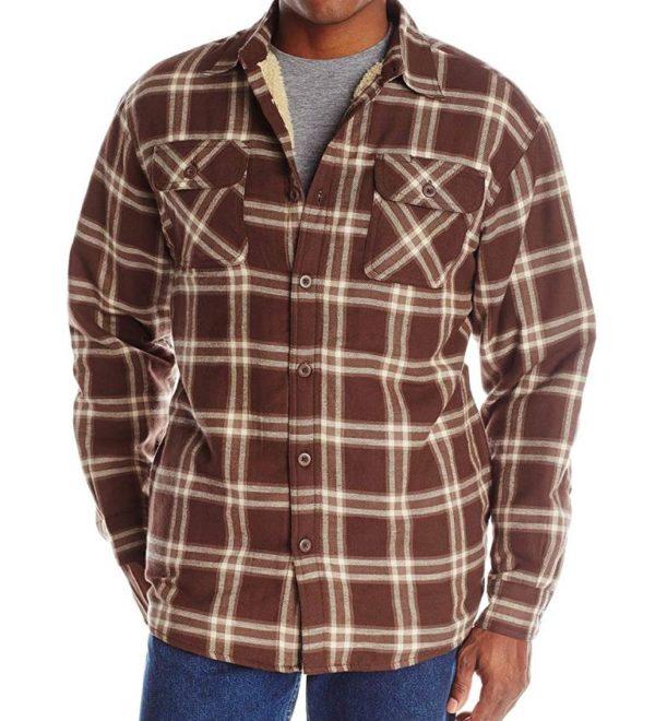 Фланелевая куртка-рубашка Wrangler на подкладке - Java