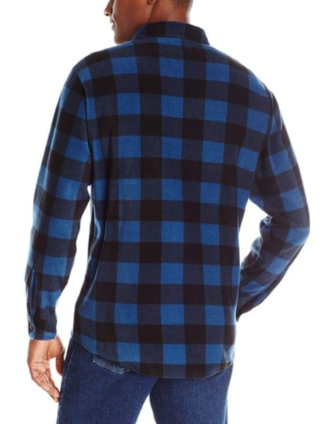 Wrangler Authentics Long Sleeve Fleece Shirt - Blue Buffalo2