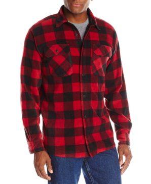 Флисовая рубашка Wrangler Authentics - Красная