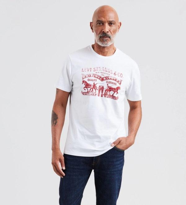Классическая футболка Levis с логотипом - белая