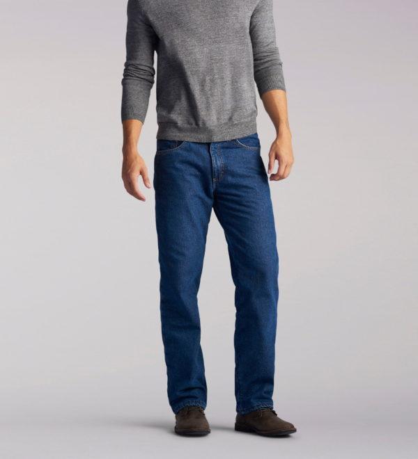 Зимние джинсы Lee на подкладке - Dark Wash