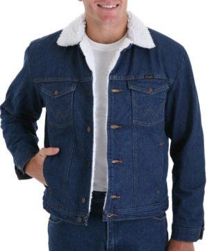 Теплая джинсовая куртка Wrangler на подкладке - Denim