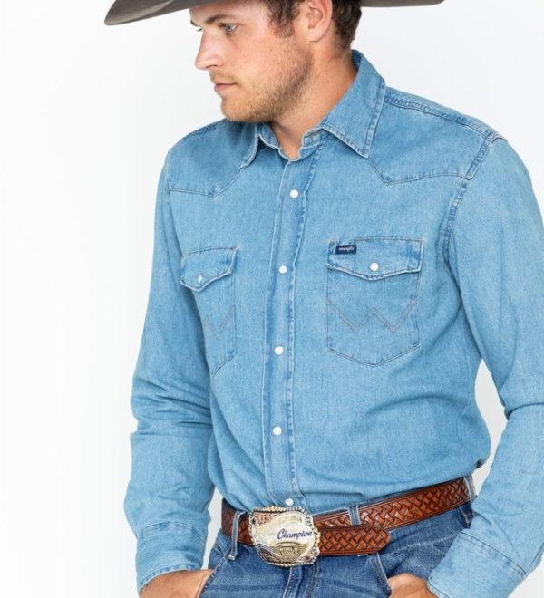Джинсовая рубашка Wrangler - Stonewash