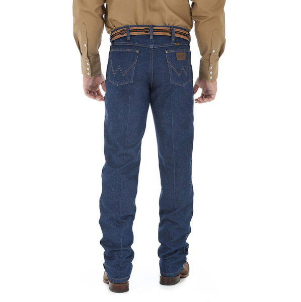 Wrangler 47MWZ Cowboy Cut Regular Fit Jean - Prewashed Indigo3