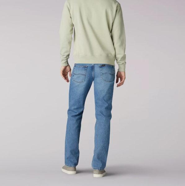 Lee Mens Regular Fit Straight Leg Jeans - Vintage Stone2