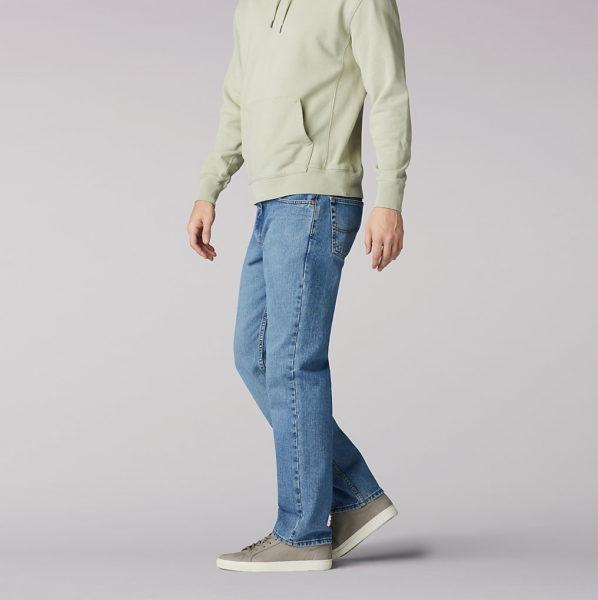 Lee Mens Regular Fit Straight Leg Jeans - Vintage Stone3