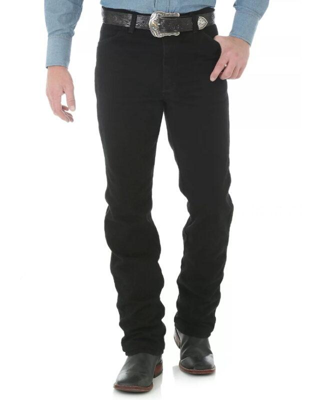 Узкие мужские джинсы Wrangler 0936WBK - черные