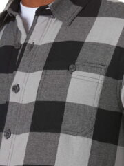 Wrangler Authentics Long Sleeve Sherpa Lined Shirt - Grey Buffalo 3