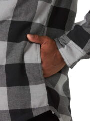 Wrangler Authentics Long Sleeve Sherpa Lined Shirt - Grey Buffalo 4