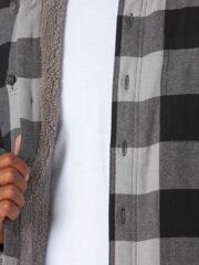 Wrangler Authentics Long Sleeve Sherpa Lined Shirt - Grey Buffalo 5