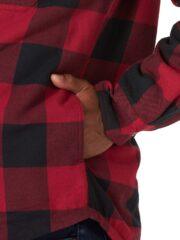 Wrangler Authentics Long Sleeve Sherpa Lined Shirt - Red Buffalo 3