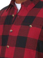 Wrangler Authentics Long Sleeve Sherpa Lined Shirt - Red Buffalo 4