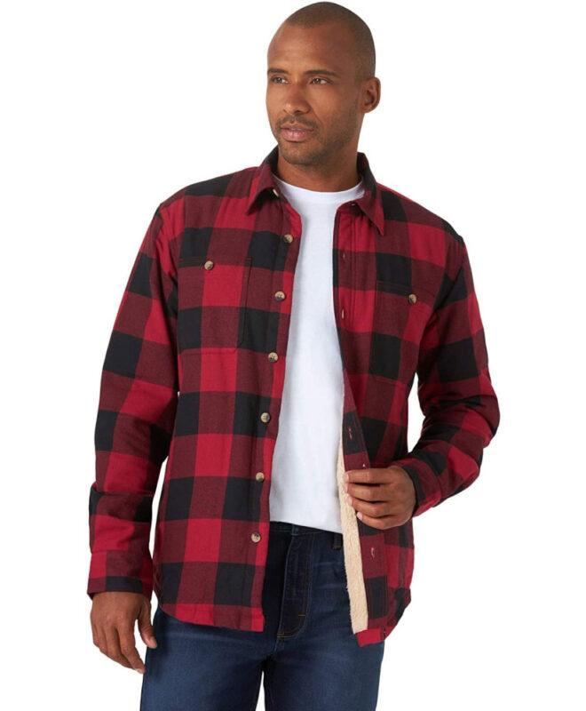 Куртка-рубашка Wrangler на подкладке - Red Buffalo