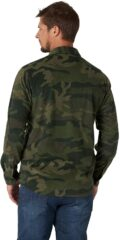 Wrangler Authentics Long Sleeve Fleece Shirt - Green Camo-2