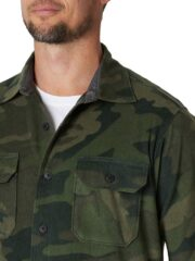 Wrangler Authentics Long Sleeve Fleece Shirt - Green Camo-3