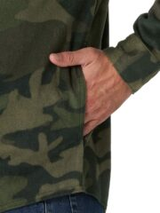 Wrangler Authentics Long Sleeve Fleece Shirt - Green Camo-4