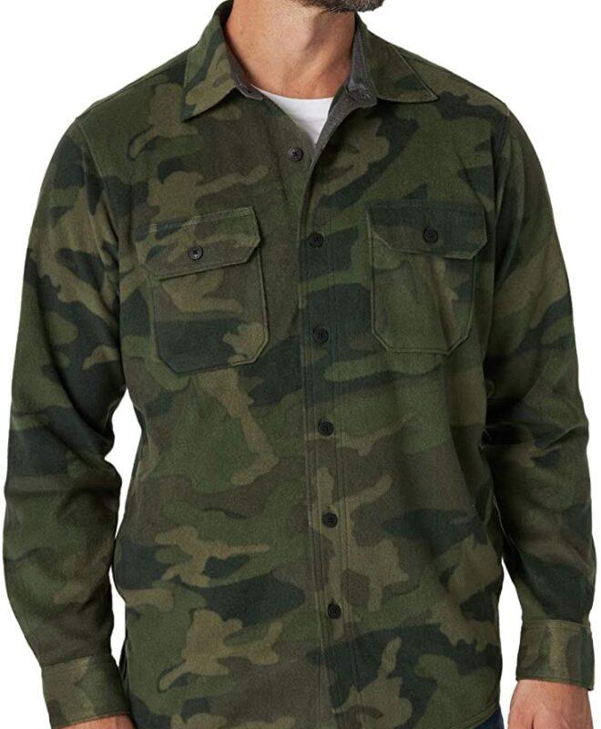 Рубашка из флиса Wrangler Authentics - Камуфляжная