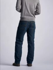 Lee Mens Fleece lined Relaxed-Fit Straight-Leg Jeans - Black Quartz 2