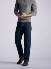 Lee Mens Fleece lined Relaxed-Fit Straight-Leg Jeans - Black Quartz 3