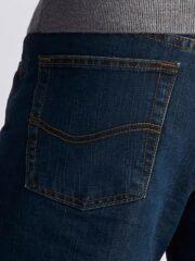 Lee Mens Fleece lined Relaxed-Fit Straight-Leg Jeans - Black Quartz 5