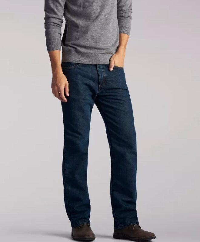 Зимние джинсы Lee на подкладке - Black Quartz