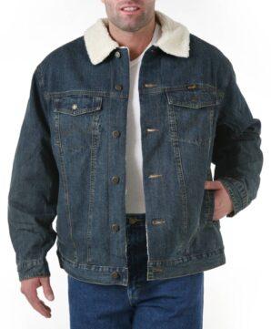Теплая джинсовая куртка Wrangler на подкладке - Rustic